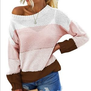 Casual Striped Long Sleeve Crew Neck Knit Sweater
